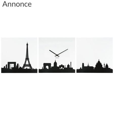 Ur til væggen med Paris