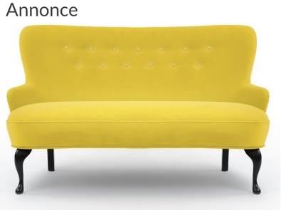 Moderne 2 personers sofa i pangfarver LQ15